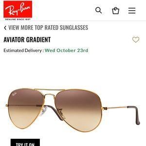 Gradient Ray-Ban Aviator Sunglasses